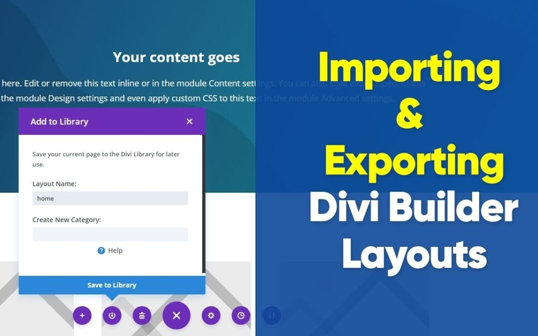 How to import and export Divi theme saved layouts