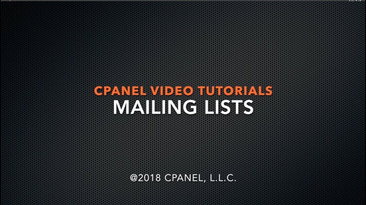 cPanel Tutorial - Mailing Lists - Fab Geni Digital Media