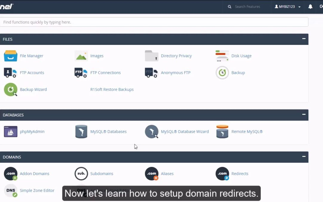 cPanel –  Setting Up a URL Redirect