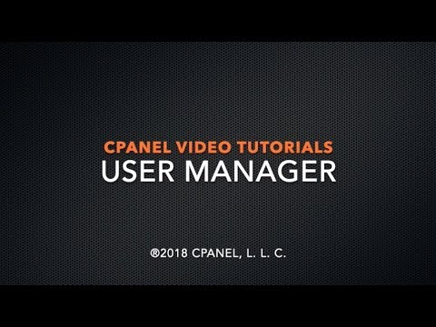 cPanel Tutorials – User Manager
