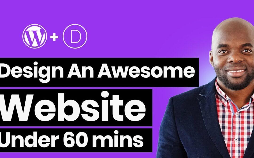 How to make a WordPress website – Divi theme tutorial 2018