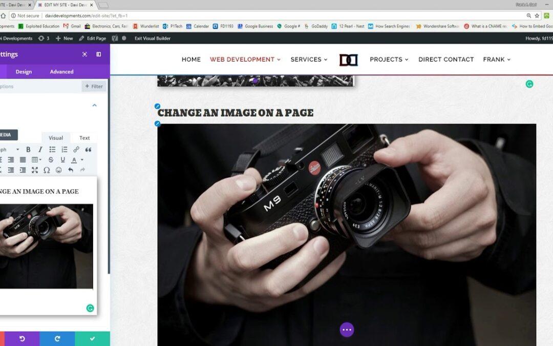 Add or Edit Images – Divi Visual Builder – Davi Developments