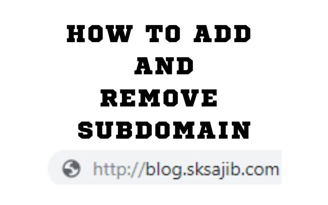 How to create subdomain in Cpanel | How to delete subdomain in Cpanel