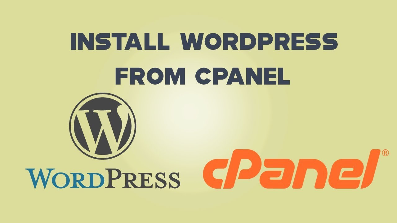How to install WordPress from your Cpanel 2019